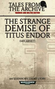 The Strange Demise of Titus Endor (couverture originale)
